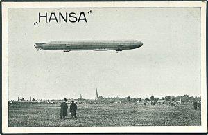 1912-09-19 Zeppelineren Hansa over Amager Fælled