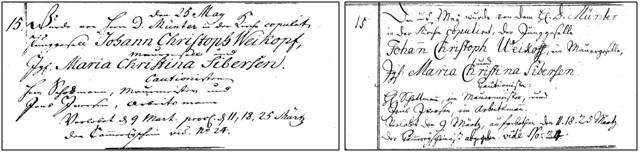Johan Christoph og Maria Christina, 1770 (Kontraministerialbog og Hovedministerialbog)
