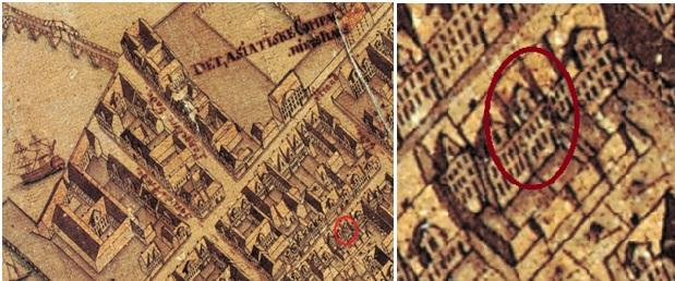 Kongensgade 117 ifølge Geddes kort