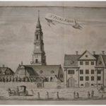 Sankt Petri kirke, København (kobberstik af Hans Quist, 1764)