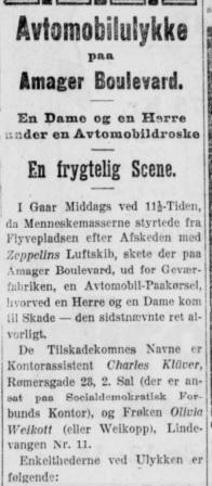 Uddrag fra Socialdemokraten 20 september 1912